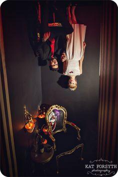 A Twin Peaks-inspired Wedding shoot at Cirque Le Soir