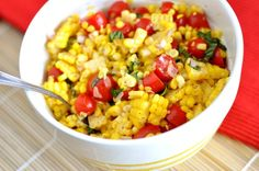 This summer corn salad is extremely adaptable and completely addictive. Add it to your summer side dish menu. You will not be disappointed! Such a simple, simple salad and yet. Veggie Recipes, New Recipes, Salad Recipes, Vegetarian Recipes, Cooking Recipes, Favorite Recipes, Recipies, Vegetarian Salad, Cooking Blogs
