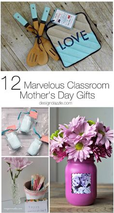 12 Marvelous Classroom Mother's Day Gifts - Design Dazzle - There's nothing quite as wonderful as a homemade gift from your kids! Here are 12 awesome classroom Mother's Day gift ideas perfect for teachers! Homemade Mothers Day Gifts, Diy Gifts For Mom, Mothers Day Crafts For Kids, Crafts For Teens, Mother Day Gifts, Homemade Gifts, Easy Gifts, Kids Gifts, Unique Gifts