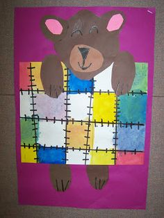 WHAT'S HAPPENING IN THE ART ROOM??: 1st GRADE--Mondrian Bears
