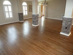 Red Oak floors with special walnut finish