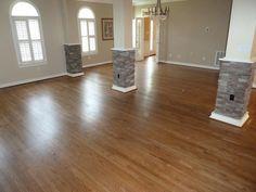 Red Oak floors with special walnut finish Wood Floor Colors, Hardwood, Living Room Wood Floor, Kitchen Redesign, Flooring, New Homes, Red Oak Floors, Beach House Flooring, Flooring Inspiration