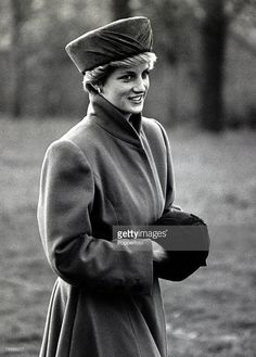 1st December 1986, Diana, Princess of Wales pictured arriving for a carol service at Canterbury Cathedral