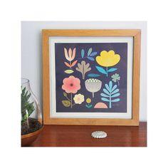 Affiche imprimée botanique - Illustration originale signé Mini labo