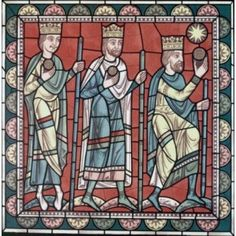 The Wise Men Directed To Bethlehem 12th Century Stained Glass Chartres Cathedral France Canvas Art - (18 x 24)