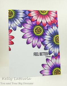 Create A Smile: Botanical Love., copic, white gel pen, You and Your Big Dreams: