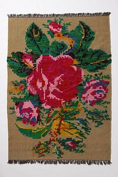 Rug: Grandiflora Rug at Antropologie Beautiful Interiors, Colorful Interiors, Anthropologie Rug, Floral Fabric, Floral Rugs, Antique Decor, Vintage Fabrics, Home Textile, Home Decor Inspiration