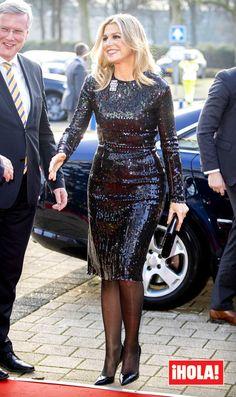 Queen Maxima at Christmas Music Gala Zwelle. Caftan Dress, Dress Skirt, Dutch Women, Royal Brides, See Through Dress, Queen Maxima, Royal Fashion, Classy Women, Lady