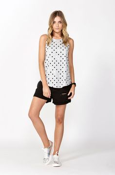 The best of what's new! Shop the Metallic Spot Swing Tank in stores and online now www.decjuba.com.au @Decjuba