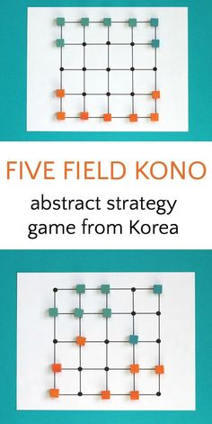 Five Field Kona is an abstract strategy game you can make at home. Easy to learn and fun to play and good for mathematical skills.