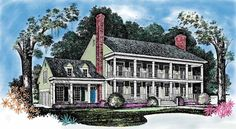 NeoClassical House Plan with 3441 Square Feet and 4 Bedrooms from Dream Home Source | House Plan Code DHSW01997