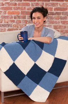 Easy to Knit Afghans and Easy to Knit Blankets | AllFreeKnitting.com