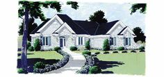 French Country House Plan with 2535 Square Feet and 3 Bedrooms from Dream Home Source   House Plan Code DHSW10062