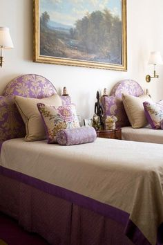 Twin beds - gorgeous!