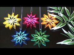 (画用紙)七夕飾り 簡単!綺麗!輝く星の作り方【DIY】(Drawing paper)Simple! Beautiful! Shining star - YouTube Diy And Crafts, Paper Crafts, Origami Paper Art, Quilling Patterns, Artsy Fartsy, Snowflakes, Projects To Try, Christmas Ornaments, Holiday Decor