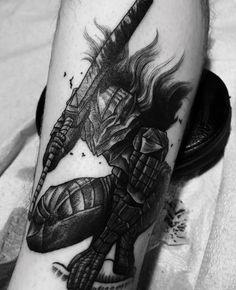 I received a tattoo of the berserker armor lately Berserk Manga Tattoo, Anime Tattoos, Body Art Tattoos, Hand Tattoos, Cool Tattoos, Tatoo Art, Get A Tattoo, Tattoo Ink, Tattoo Drawings