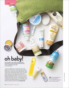 Baby Beauty, March 2007 issue, Canadian Family Magazine