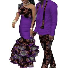 African Matching Clothing For Couple Man Woman Cotton Print Send Your – Afrinspiration Latest African Fashion Dresses, African Men Fashion, African Wear, African Dress, Couples African Outfits, Couple Outfits, Traditional African Clothing, African Dashiki, S Shirt