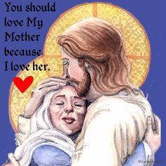 "You should love My Mother because I love her; you should love her in the way I love her; you should love her with the selfsame love as I do. ""My Ideal, Jesus, Son of Mary"" By Fr. Emile Neubert, SM  #catholic, #peace, #eucharist, #mary, #baptism, #silence, #resurrection, #truth, #jesus, #jesuschrist, #holyspirit, #prayer, #mass, #saints, #pope, #communion, #virginmary, #avemaria, #hailmary, #christian, #church, #savior, #God, #love, #beauty, #faith, #trust, #humility, #santamissa, #가톨릭"