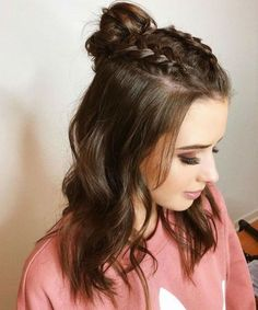 Easy Hairstyles for Meduim Length Hair For This Season frisuren frauen frisuren männer hair hair styles hair women Meduim Length Hair, Cute Hairstyles For Teens, Hairstyle Ideas, Cute Hairstyles With Braids, Cute Simple Hairstyles, Cute Medium Length Hairstyles, Teen Girl Hairstyles, Belle Hairstyle, Hairstyle Braid