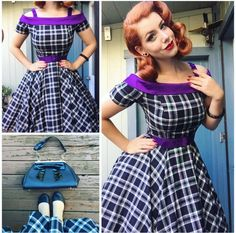 My Week In Outfits! - Miss Victory Violet Rockabilly Fashion, 1950s Fashion, Girl Fashion, Vintage Fashion, Fashion Outfits, 1950s Outfits, Pin Up Outfits, Vintage Outfits, Cute Outfits
