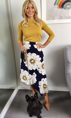 Holly Willoughby colourful jumpers