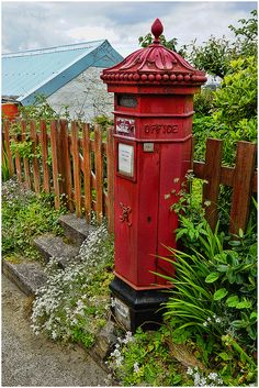 Victorian pillar box. Iona, Scottish Island. You have to really work to get to Iona. It is far off the beaten path, but totally worth the time and effort.