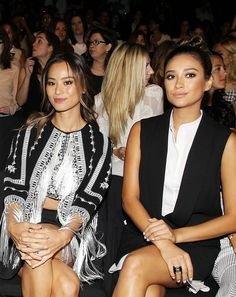 Shay Mitchell at New York Fashion Week — Black and White and Chic All Over
