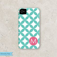"""personalized custom iPhone cell phone case - """"modern dots"""""""
