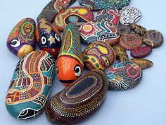 Painted Rocks by Howard G Charing