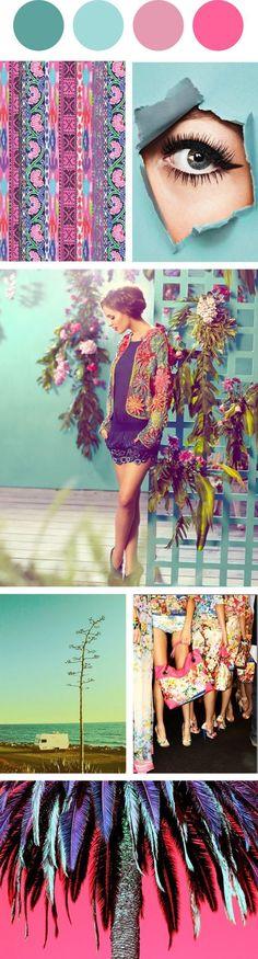 Gute Laune Macher! Miteinander kombiniert wirken die Pastelltöne des Sommers frisch, fröhlich und lebensbejahend! Kerstin Tomancok Farb-, Typ-, Stil & Imageberatung mood board color palette