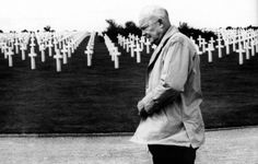 Dwight D. Eisenhower at the American military cemetery in Colleville-sur-Mer, Normandy, 1963 - Imgur