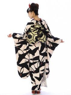 【振袖レンタル】 黒鶴 5 e-kimono-rental 3