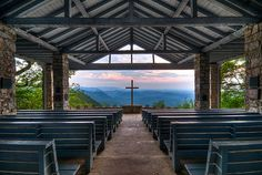 """'Pretty Place' Chapel SC by The Digital Mirage, via Flickr    """"Pretty Place,"""" offers a breathtaking view from the top of Standing Stone Mountain in Cleveland, SC"""