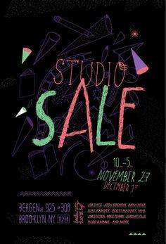 Mike Perry Pop-up Shop / Studio Sale poster design.