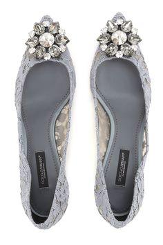 Dolce and Gabbana Shoes-grey, rhinestones