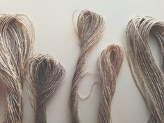 dreaming of linen for a new series of weavings