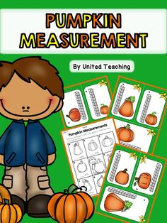 *** FREE *** Fall Pumpkin Measurement Math Center >> Measure pumpkins using units and record the answer on the worksheet.