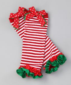 Red Candy Stripe Leg Warmers | Daily deals for moms, babies and kids