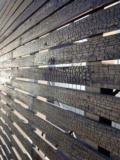 Seidenholz Holzarten Design Shou Sugi Ban gartenzaun