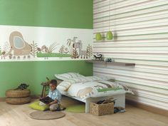 Creative & innovative wallpapers to decorate the kids' bedroom whether it's for a boy or a girl with varied motifs & patterns that bring fun to the room. Nursery Room, Kids Bedroom, Bedroom Decor, Bedroom Pictures, Childrens Room Decor, Man Room, Awesome Bedrooms, Kid Spaces, Kid Beds