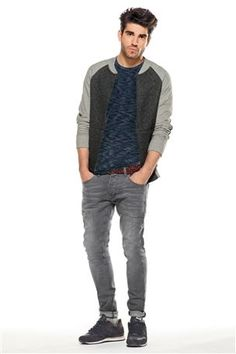 Grey Wash Stretch Jean