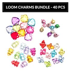 Loom Charm Bundle - 40 pieces Order your Loom Charms at www.loomkits.com.au! Free postage Australia Wide for orders over $15!