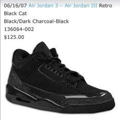 ca80377e707f Air Jordan 3 (III) Black Cat 2007 Retro Black   Dark Charcoal - Black  Sneakerheads were taken aback by the all black Air Jordan 3 called Black Cat .