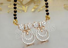 1.90ctw NATURAL DIAMOND 14K YELOW GOLD WEDDING ANNIVERSARY MANGALSUTRA #Sk_Jewels #MANGALSUTRA
