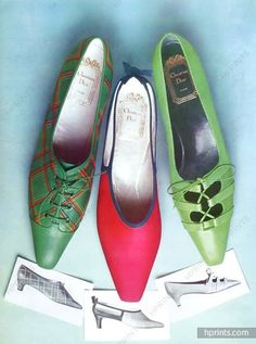 Christian Dior (Shoes) 1964 Chaussure de Sport, Sandale de Cocktail, Photo Guégan