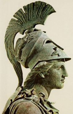 Bronze statue of Athena, Archaeological Museum of Piraeus (Athens)
