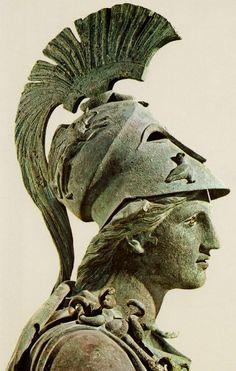 Bronze statue of Athena, Archaeological Museum of Piraeus (Athens)