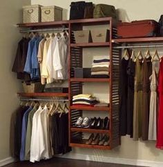 12 in. Deep Premier Organizer The John Louis Home 12 in. deep Premeir Organizer is designed for any reach-in or walk-in closet. This organizer offers the 12 in. shelf depth combined with the benefits of the deluxe organizer to provide up to 22 ft. of shelf, up to 16 ft. of hang space.