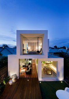 casas modulares fachadas cubos geishas taller espacios australiano arte